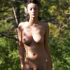 Redhead Nudists Perfect Natural Body Shown Outside