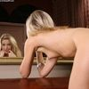 Beautiful Tall Blonde Babe Marilyn Stripping By The Mirror