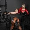 Latex Lucy Gorgeous Cat Women In Cage Is Sucking Black Cock