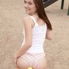 Pregnant - Pregnant Girl Plays Outdoor