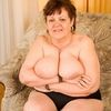 Full Figured Granny With Big Tits Peels Off Her Tight XXL Pa...