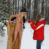 OutDoor - Blonde Teen Toys Pussy Outside