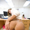 Busty Latina MILF Esperanza Gomez Sucks And Fucks In The Back Office