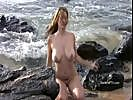 Movies Of Danielle Bathing On The Beachside Fully Naked